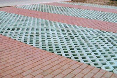 广场砖工程实例